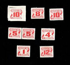 Lot of 8 Postage Due Red stamps CANADA MNG 1 cent 4c 5c 8c 10c 12c J28-J36 1969