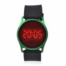STRADA LED Forest Green Digital Watch SPLASH WATER RESISTANT Unisex Black Band