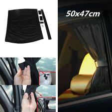 2pcs 50x47cm Adjustable Anti-UV Sun Shade Drape Car Window Windscreen Curtain