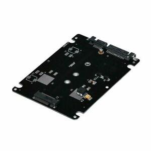 Black B + M key Socket 2 M.2 NGFF (SATA) SSD to 2.5 Card Adapter with Case J4L0