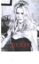 PUBLICITE ADVERTISING 2012  GUESS haute couture par Claudia Schiffer