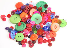 50g Fruit Salad Coloured Buttons - Sewing- Craft-jewellery making-papercraft