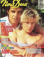 ▬►Nous Deux 2249 (1990) Julien Clerc- Evelyne Bouix