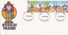 """1980 Australian Folklore """"""""Waltzing Matilda"""""""" Fdc - Kwinana Wa 6167 Pmk"""