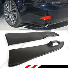 FOR 06-13 LEXUS IS250 IS350 ISF 2PC CARBON FIBER REAR BUMPER APRON VALANCE SPAT