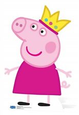 Princess Peppa Pig wearing Crown Mini Cardboard Cutout - Great for parties