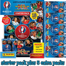 Panini Euro 2016 Adrenalyn XL trading card starter pack +5 extra booster packets