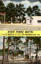 Pre-1980 DIXIE PINES MOTEL Bainbridge Georgia GA
