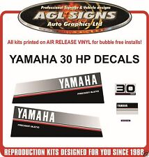 1986 1987 1988 1989  YAMAHA 30 HP Outboard Decal Kit , reproductions