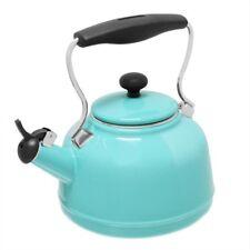 Stovetop Tea Kettle 6.8-cups Vintage Enamel-On-Steel Cool-Grip No-Rust Aqua
