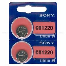 2 NEW SONY CR1220 3V Lithium Coin Battery Expire 2026 FRESHLY NEW - USA Seller