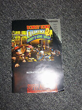 Super Nintendo SNES Donkey Kong Country 2 Instruction Manual ONLY