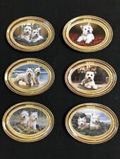 west highland white terrier Franklin Mint Full Set Of 6 Plates