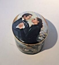 """Porcelain Gone With The Wind Music Box """"The Proposal"""" - Ws George"""