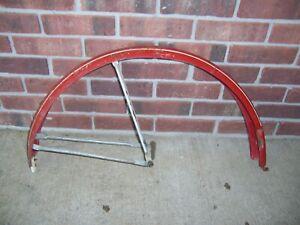 Vintage 1950s Schwinn Hornet Bicycle Bike Red Rear Fender for 26 x 2 Tire