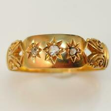 Edwardian 1906 18ct Yellow Gold Diamond Ring