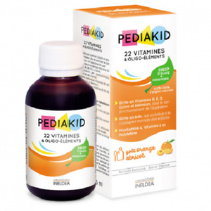 Pediakid Syrup 22 Vitamins Copper Selenium Agave Nectar Carrot Spinach 125 ml