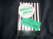 Football Programme Newcastle United vs Manchester United December 9th 1967 Div 1