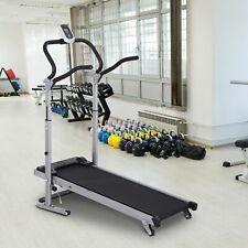 HOMCOM Folding Manual Treadmill Running Walking Machine Fitness Equipment Sit-up