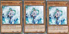 YUGIOH 3 X EFFECT VEILER - LEHD-ENC12  LEGENDARY HERO DECKS  1ST EDITION