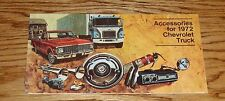 1972 Chevrolet Truck Accessories Sales Brochure 72 Chevy Pickup