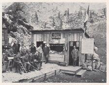 D2755 Passo Ombretta - Il Caffè Contrin - Stampa d'epoca - 1922 vintage print
