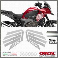 2pcs Adesivi Ala Argento compatibile VFR 1200 X 2010 CROSSTOURER Honda VFR1200X