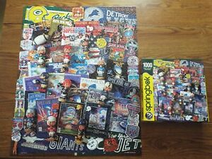 "Springbok Jigsaw Puzzle 1000 Piece~~""Football Fantasy"" ~~ 2019 Complete~~~"