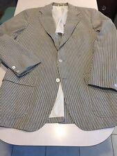 VTG 60s Jos A Bank Seersucker SPORTCOAT Stripe 42R 3/2 Roll Wash n Wear USA