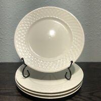 "ONEIDA Westerly Basket 7 3/4"" Salad Plates Woven Style, Set of 4"