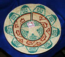 """Lg Southwestern Basket Finely Handwoven Collectible Decorative 14.x3"""" New #21"""