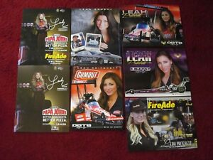9 DIFFERENT NHRA HANDOUTS/ POSTCARDS/LEAH PRITCHETT 12'- 19'