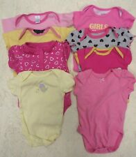 GIRLS CLOTHING LOT BODY SUITS 8pcs.-  (3-6mo)
