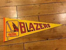 1970S VANCOUVER BLAZERS ORIGINAL WHA HOCKEY FULL-SIZE DEFUNCT TEAM PENNANT