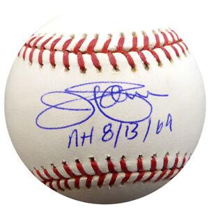 "JIM PALMER AUTOGRAPHED SIGNED MLB BASEBALL ORIOLES ""NH 8/13/69"" PSA/DNA 12782"