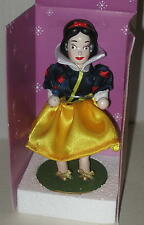 "Snow White Wooden Nutcracker MIB 7"" Holding Bluebird"