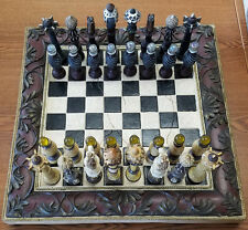"SANDTON DESIGNS CHESS SET 16 1/2"" X 16 1/2"" - VERY GOOD USED"