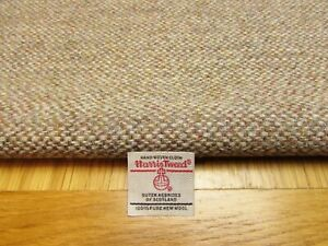 Harris Tweed Brown Fawn Barleycorn Remnants with Label - Choice of Sizes