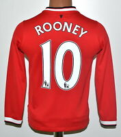 MANCHESTER UNITED 2014/2015 HOME FOOTBALL SHIRT NIKE ROONEY #10 SIZE YM BOYS