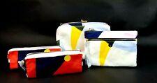Tory Burch Cosmetic Case Set Nylon Printed Tilda 4 Piece Travel Handbag