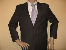 WORN ONCE DANIEL HECHTER PINSTRIPE SINGLE BREAST WOOL SUIT 40S CHEST 34S 29.5 LG