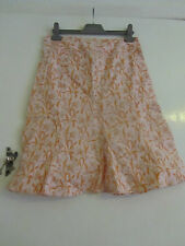 """Orange & Pink Floral GAP Skirt in Size 10 - Knee to Calf Length - W30"""""""