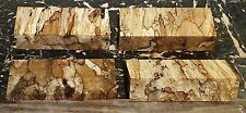 4 PC SPALTED MAPLE KNIFE SCALES, PISTOL GRIPS, PEN BLANKS 5.125 x 2 x 1.25