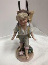 Antique French Bisque Figurine Boy Statue