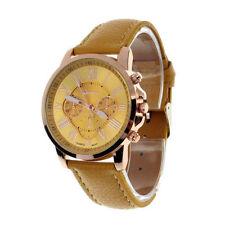 Geneva Faux Leather Wristwatches
