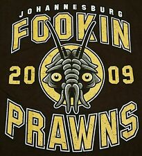 """Joburg Prawns"" District Aliens Sci-Fi Movie Parody Men's Medium Shirt Teefury"