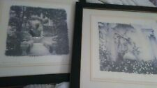 2 Alan Blaustein European Garden, Signed Framed Lithograph prints