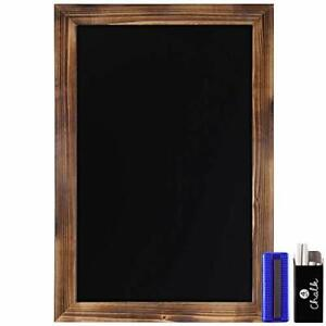 HBCY Creations Rustic Torched Wood Magnetic Wall Chalkboard Extra Large Size ...