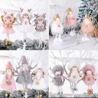 Christmas Angel Plush Doll Pendant Xmas Tree Hanging Decoration Party Ornaments