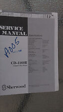 sherwood cd-1160r service manual repair book schematic cd player compact disc